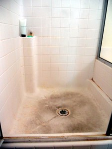 Shower BEFORE Mini Mops House Cleaning in Fresno CA