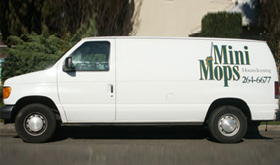 Mini Mops House Cleaning van in Fresno CA