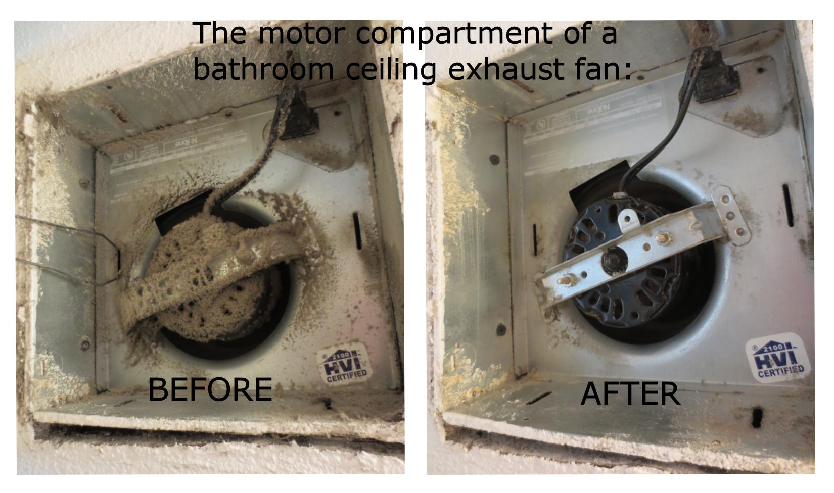 Bathroom Exhaust Fan Lint Is A Fire Hazard Mini Mops House Cleaning